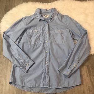Madewell Washed Cotton Boyshirt M